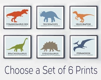 Dinosaur nursery prints, colourful wall art, DINOSAUR print, Toddler room decor, dinosaur nursery art, dinosaur poster, nursery decor