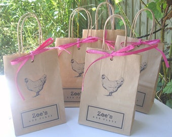 Hen party bags MIXED: 8 SMALL (14cm x 19.5cm x 8cm) and 1 Large A4