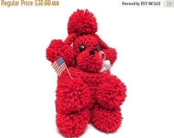 40% OFF NOW Red Toilet Paper Poodle Cozy, Toilet Roll Cover, 1950's Style Poodle Cozy, Crocheted Poodle Cozy, Pompom Poodle, Kitsch Bathroom