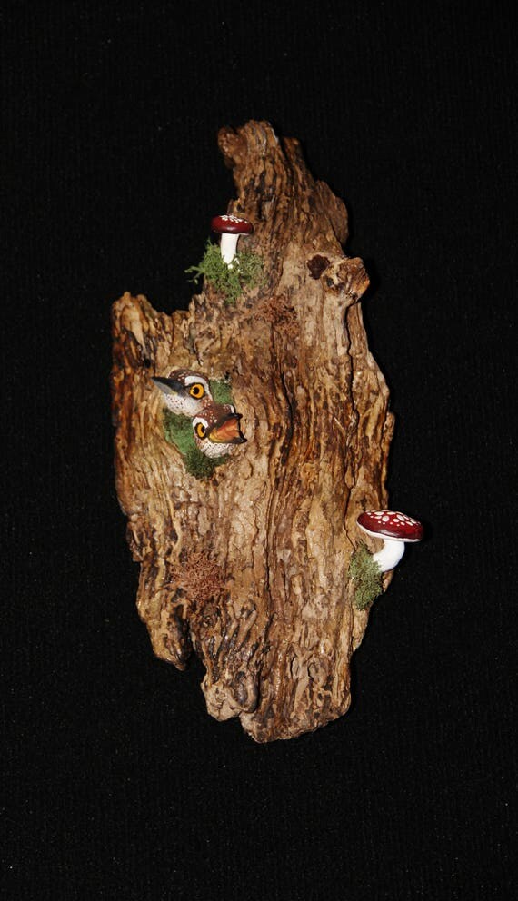 Ceramic Bird Wall Art - Hand Sculpted - OOAK