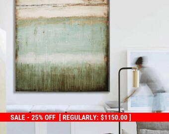 """painting 54"""" oroginal painting  abstract painting  nice large painting from jolina anthony fast and free shipping"""