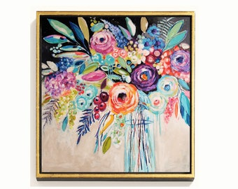 abstract Painting colorful   art print , by Jolina Anthony