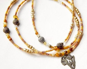 Tawny Agate Africa Victory Waist Beads, Africa Victory Waistbeads, Agate Belly Chain, Africa Belly Beads