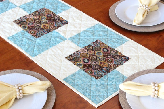 French Country Quilted Table Runner
