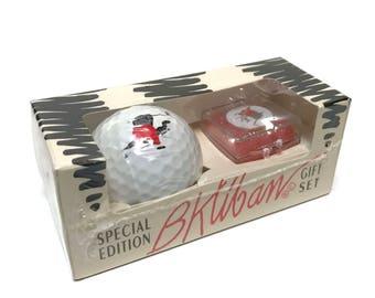 Vintage B. Kliban cat golf ball and marker gift set by Spalding, sealed box.