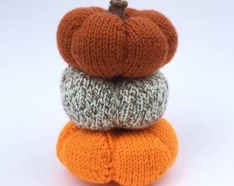 Knit Pumpkin Trio / Pumpkin Tower