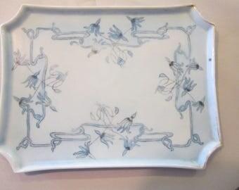 1912 limoges dresser tray nouveau hand painted porcelain tray