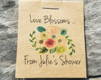 Personalized Floral Bridal Shower Flower Seed Packet Favors Sow in Love Wildflower Seeds Wedding Favors Rehearsal Dinner Thank You