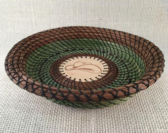 Cowboy Hat pine needle basket