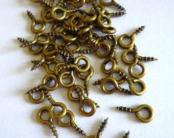 Set of 50 pegs screw bronze 8mm