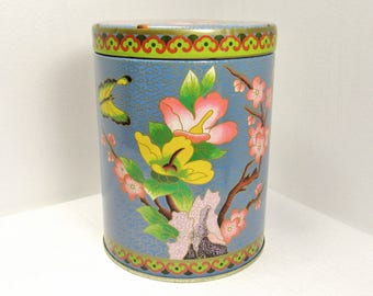 Butterfly 'n Blossoms: Vintage Daher Tin, Made in England