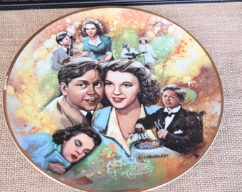 Judy and Mickey Collectible Plate, Judy Garland and Mickey Rooney collectible, MGM collectible plate