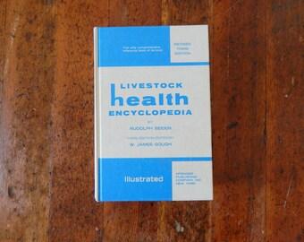 Vintage Book Decor, Livestock Health Encyclopedia