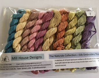 The Naturals Collection - Hand-dyed 100%silk embroidery threads