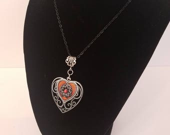 Heart in a Heart Gothic Freak Necklace