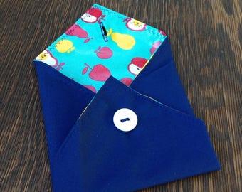 Reusable Sandwich Wrap, Eco-Friendly Lunch Bag, Washable Place Mat, School Lunch Bag