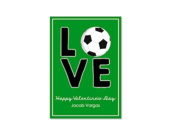 Soccer Valentine Classroom Card