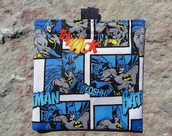 Batman Reusable Sandwich Bag, Reusable Snack Bag, Washable Treat Bag with easy open tabs