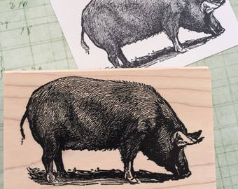 Big Pig Rubber Stamp 4227