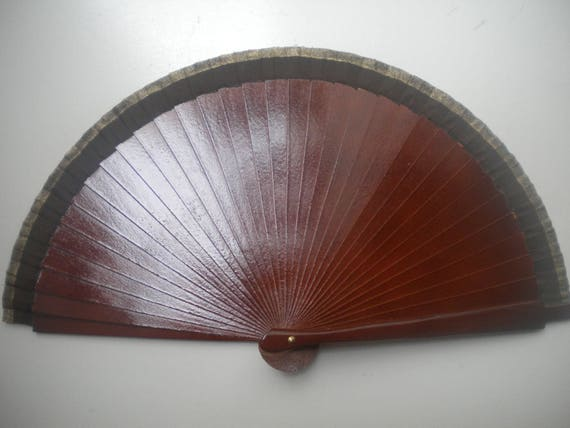 Brown Man Hand Fan Small