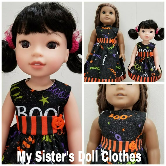 Boo Halloween Dresses for Willie Wisher Dress 14.5 Inch Doll or American girl doll