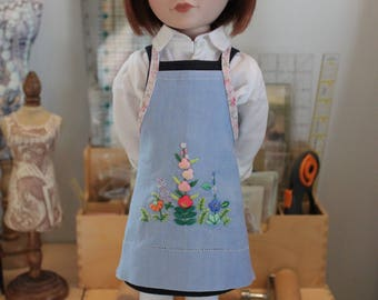 Apron Upcycled from Vintage Linen for 16 Inch Doll, MAC36