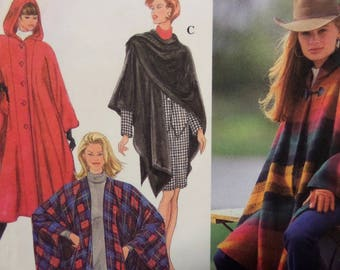 HOODED CAPE Pattern • Simplicity 9223 • Miss One Size • Button Cape • Poncho • Outerwear • Sewing Pattern • Womens Pattern • WhiletheCatNaps