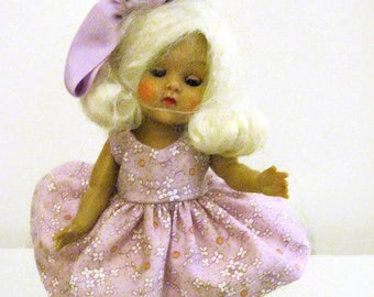 "Ginny Doll Lavender Print Dress Muffie Doll Dress 8"" Doll Dress Lavender"