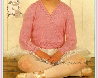 """PDF Knitting Pattern for a Ballet Or Dance Top to Fit 26-30"""" Chrsts/Busts - Instant Download"""