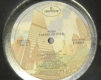 Rush - Caress of Steel - UPCYCLE Vinyl Record Bowl