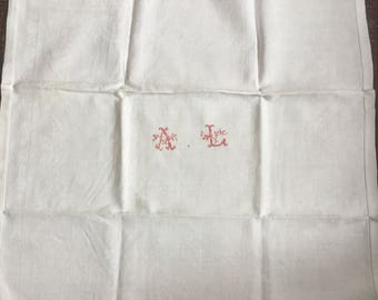 Large French damask mono napkins