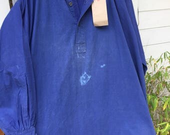 Antique French biaude / work smock from pays de Loire pristine and large