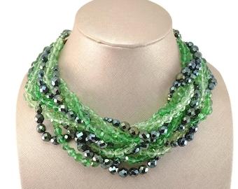 Vintage 1962 Signed COPPOLA e TOPPO Scallop Collar Necklace Earring Demi-Parure Book Piece!