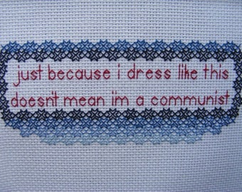 To Have and Have Not Lyric Framed Embroidery Billy Bragg