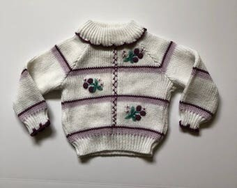1980's Purple Berries Knit Sweater (12 months)