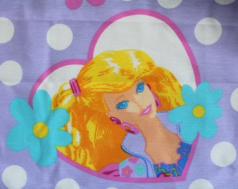 Vintage Barbie Two Panel Curtain Set with Valance 1991