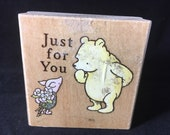 Pooh Piglet Just For You Used Rubber Stamp