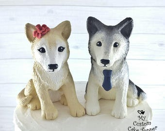 Wolf Wedding Cake Toppers