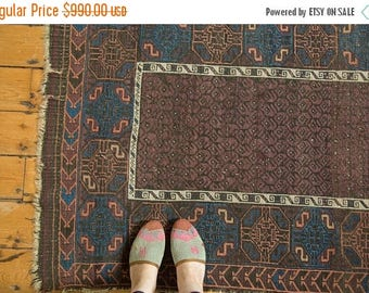 10% OFF RUGS 3x5 Antique Fine Belouch Rug