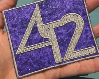 The Disco Biscuits 42 Patch ~ Purple sparkley and Silver Embroidery
