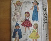 McCALL'S Patten 525 Doll's Outfit with Transfer       circa 1937