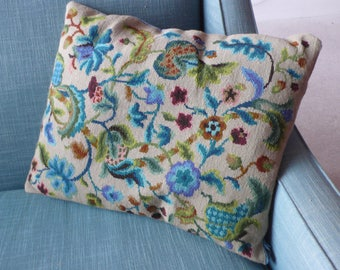 Large Jacobean needlepoint cushion cover