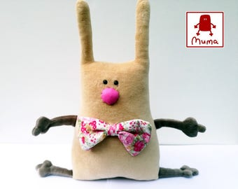 Muma Rose Easter Bunny Plushie, Little Pocket Rabbit Stuffie Toy, Funny Bunny Pocket Plush