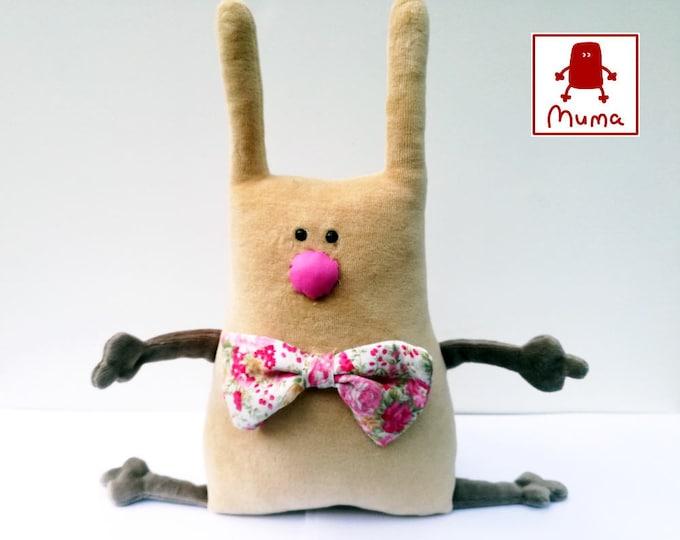 Muma Rose Bunny Plushie, Little Pocket Rabbit Stuffie Toy, Funny Bunny Pocket Plush
