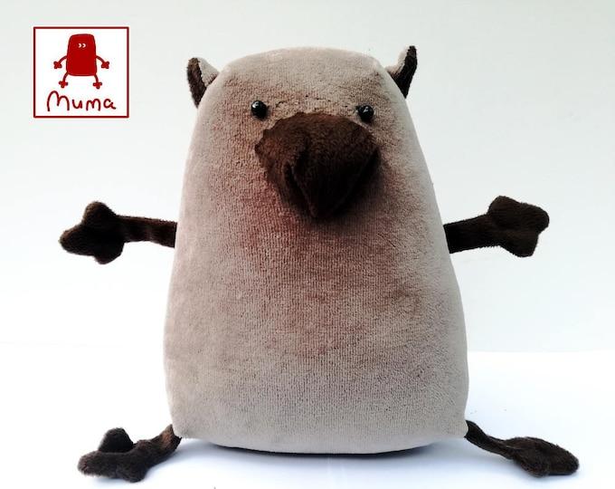 Muma Wombat Plushie, Little Pocket Wombat Stuffie Toy, Funny Marsupial Pocket Plush
