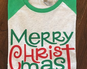 Christmas shirt, Holiday Shirt for Women, Women's Christmas Shirt, Christmas Raglan, Christmas tShirt, Womens Christmas shirt,