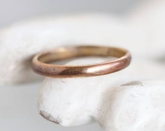 Copper Wedding Band Ring - Simple Ring - Size 6.5