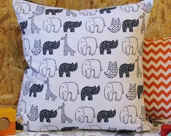 Nursery Pillow - Nursery decor - baby shower gift - kids pillow - monochrome -   Nursery Cushion - handmade cushion - pillow cover - cover