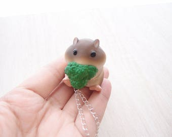 cute hamster 2 necklace
