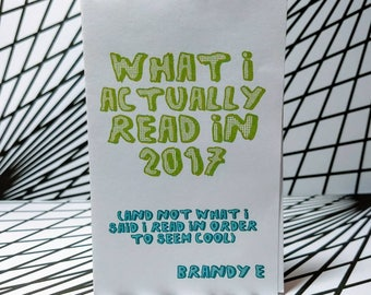 What I Actually Read in 2017 Zine
